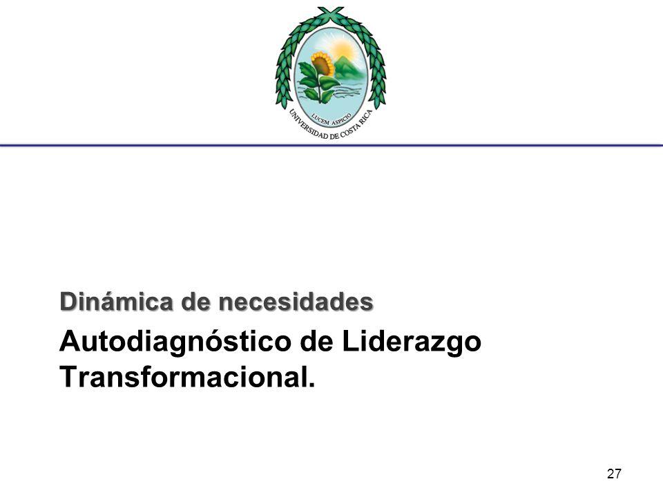 Autodiagnóstico de Liderazgo Transformacional.