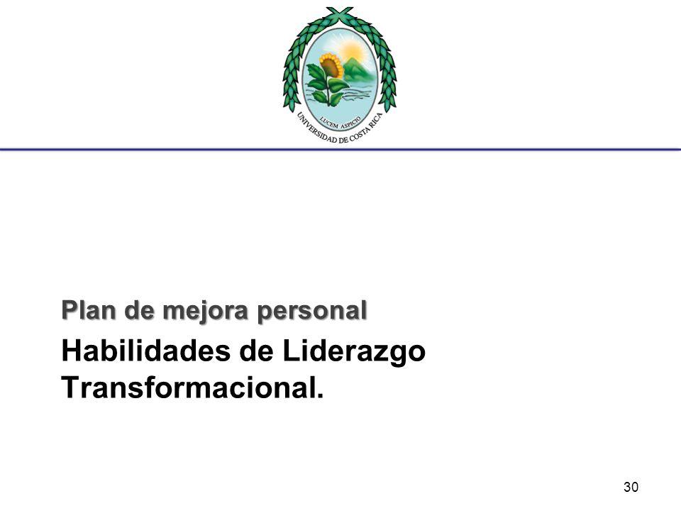 Habilidades de Liderazgo Transformacional.