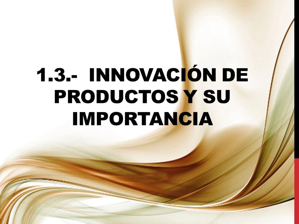 1.3.- innovación de productos y su importancia