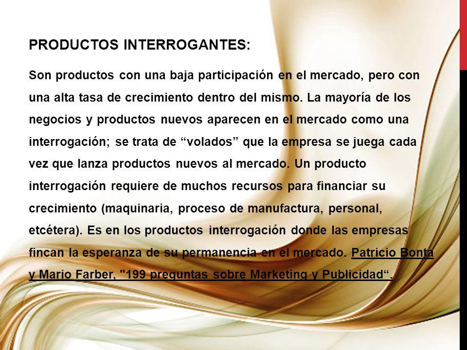 PRODUCTOS INTERROGANTES: