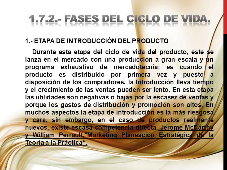 1.7.2.- FASES DEL CICLO DE VIDA.