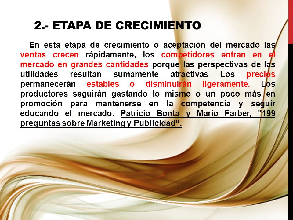 2.- ETAPA DE CRECIMIENTO