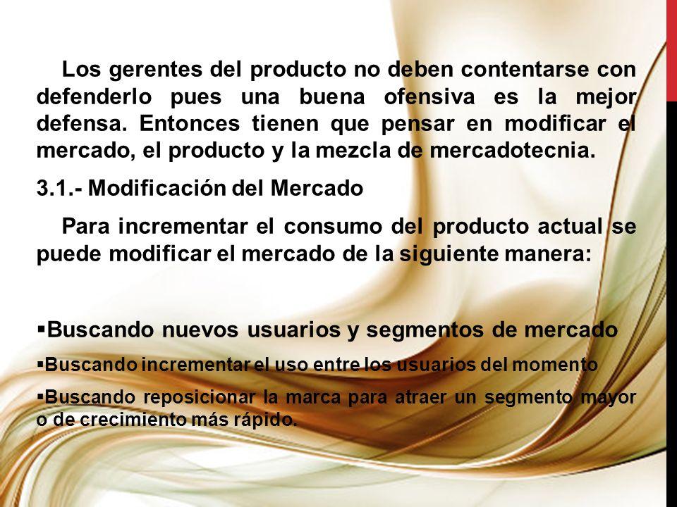 3.1.- Modificación del Mercado