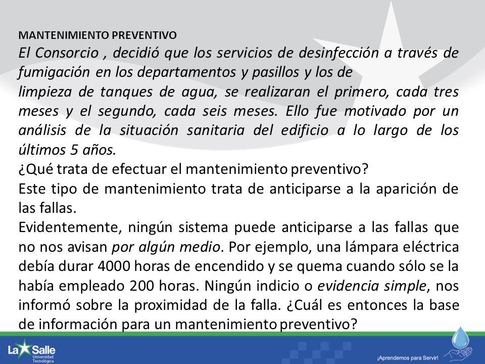 ¿Qué trata de efectuar el mantenimiento preventivo
