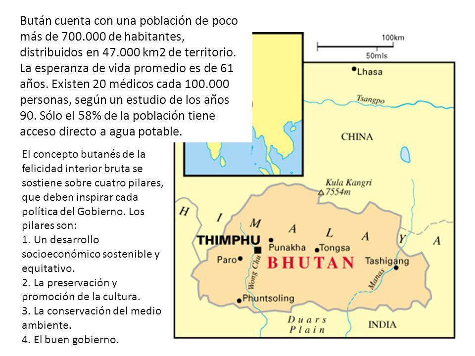 Bután cuenta con una población de poco más de 700