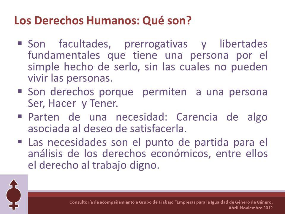 Los Derechos Humanos: Qué son