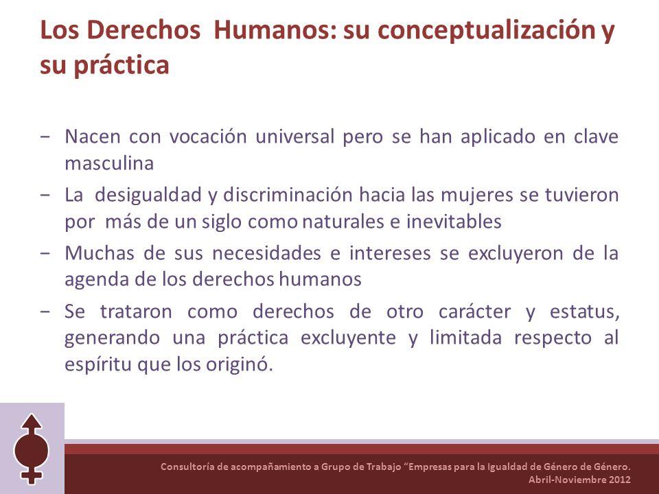 Los Derechos Humanos: su conceptualización y su práctica