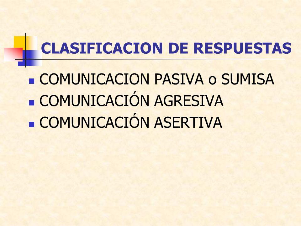CLASIFICACION DE RESPUESTAS