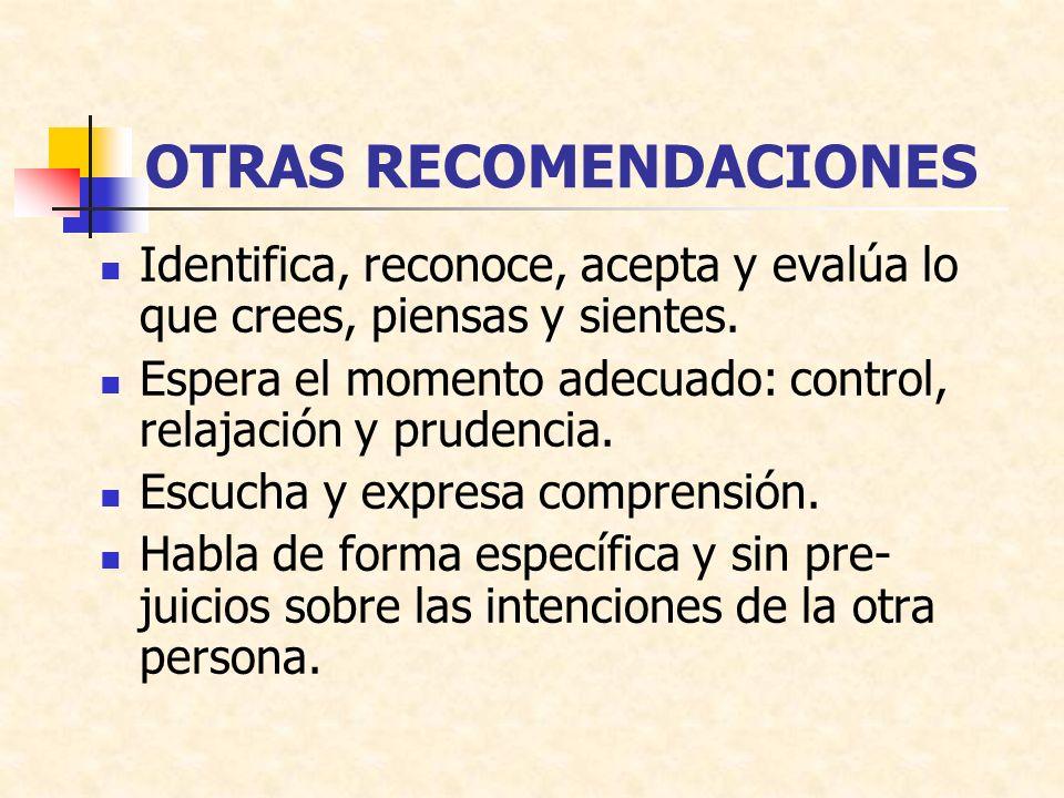 OTRAS RECOMENDACIONES