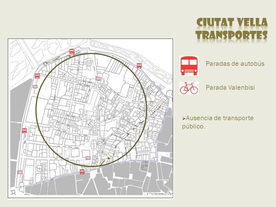 Ciutat vella transportes Paradas de autobús Parada Valenbisi