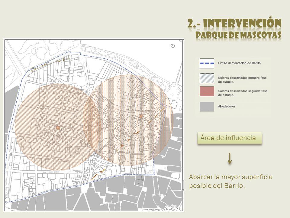 2.- intervención Parque de mascotas Área de influencia