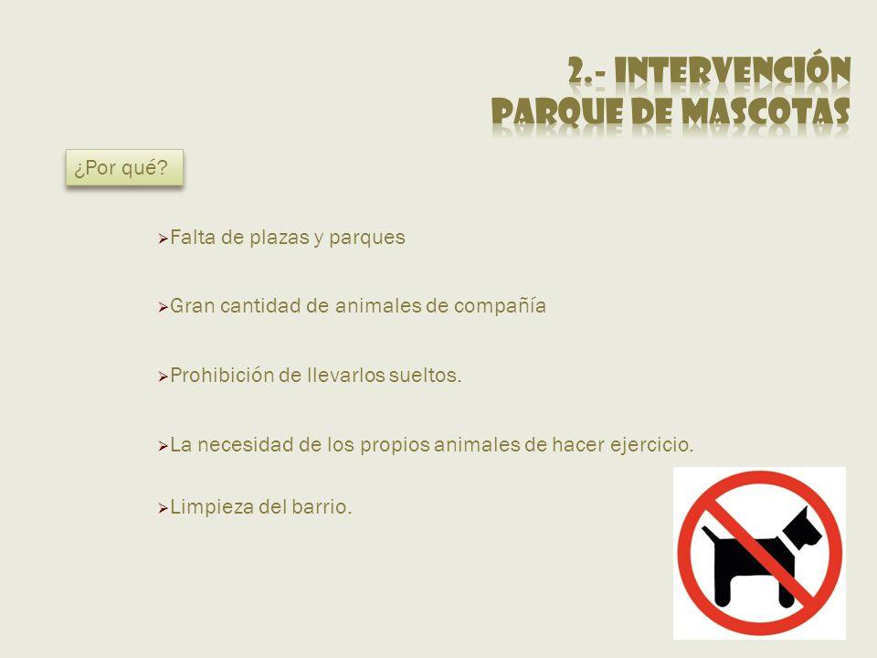2.- Intervención Parque de mascotas ¿Por qué
