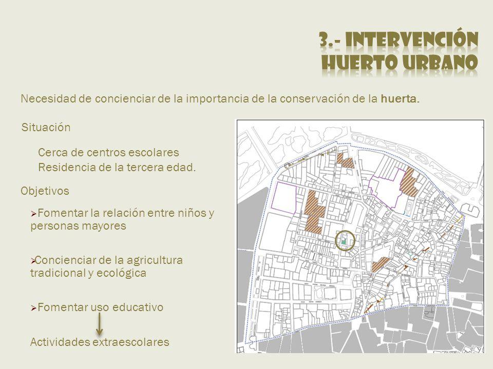 3.- Intervención Huerto urbano