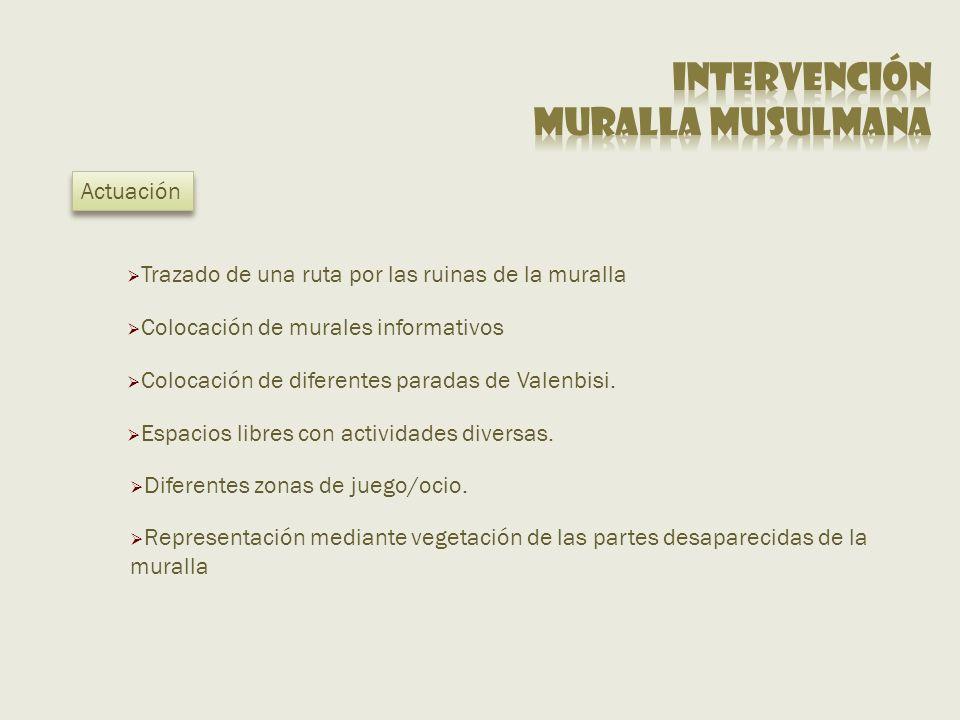 Intervención Muralla musulmana Actuación