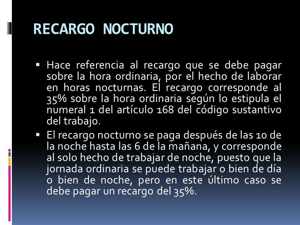 RECARGO NOCTURNO