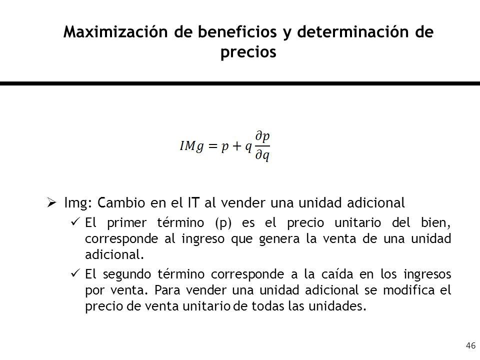 Maximización de beneficios y determinación de precios