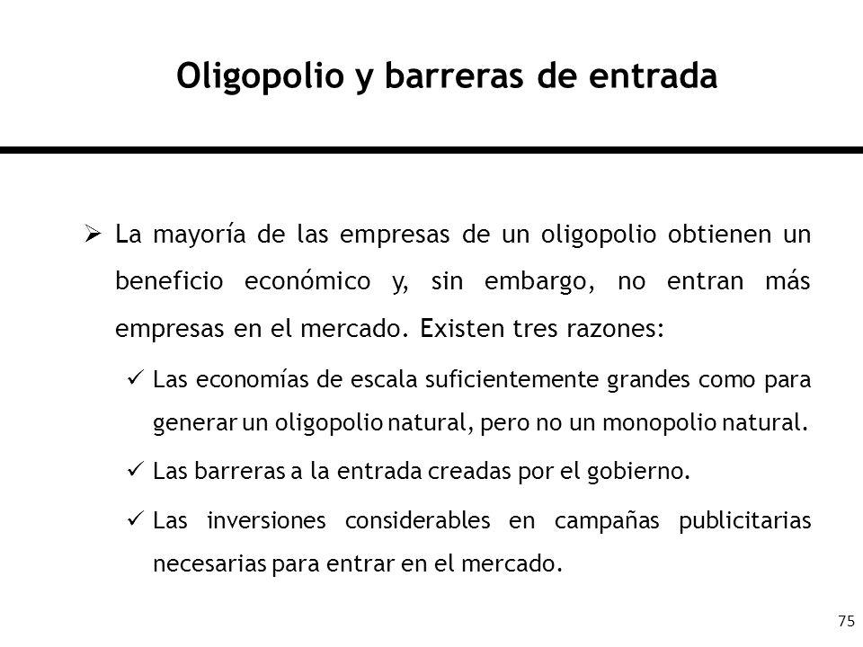 Oligopolio y barreras de entrada