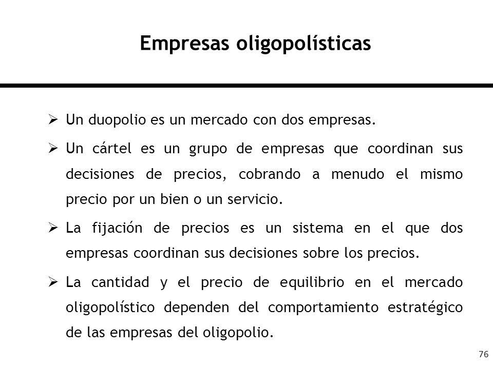 Empresas oligopolísticas