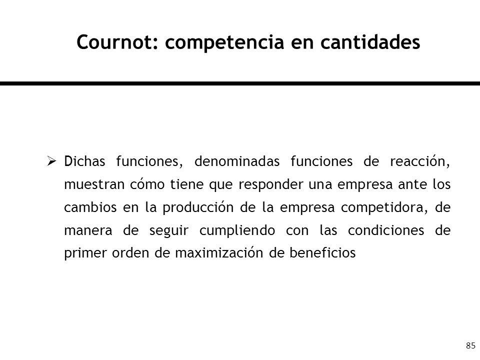 Cournot: competencia en cantidades