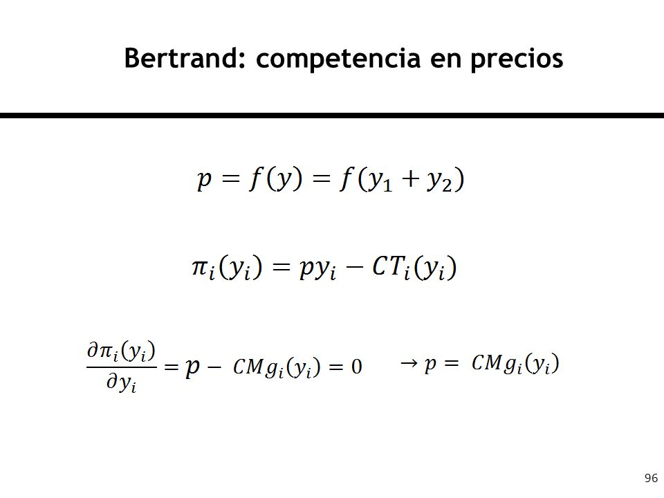 Bertrand: competencia en precios