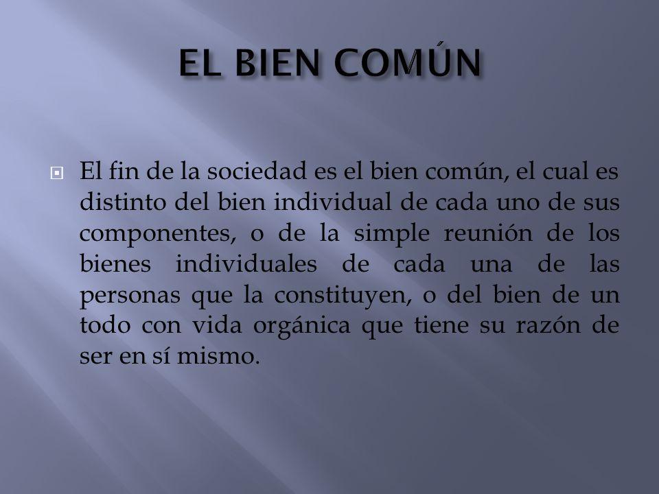 EL BIEN COMÚN