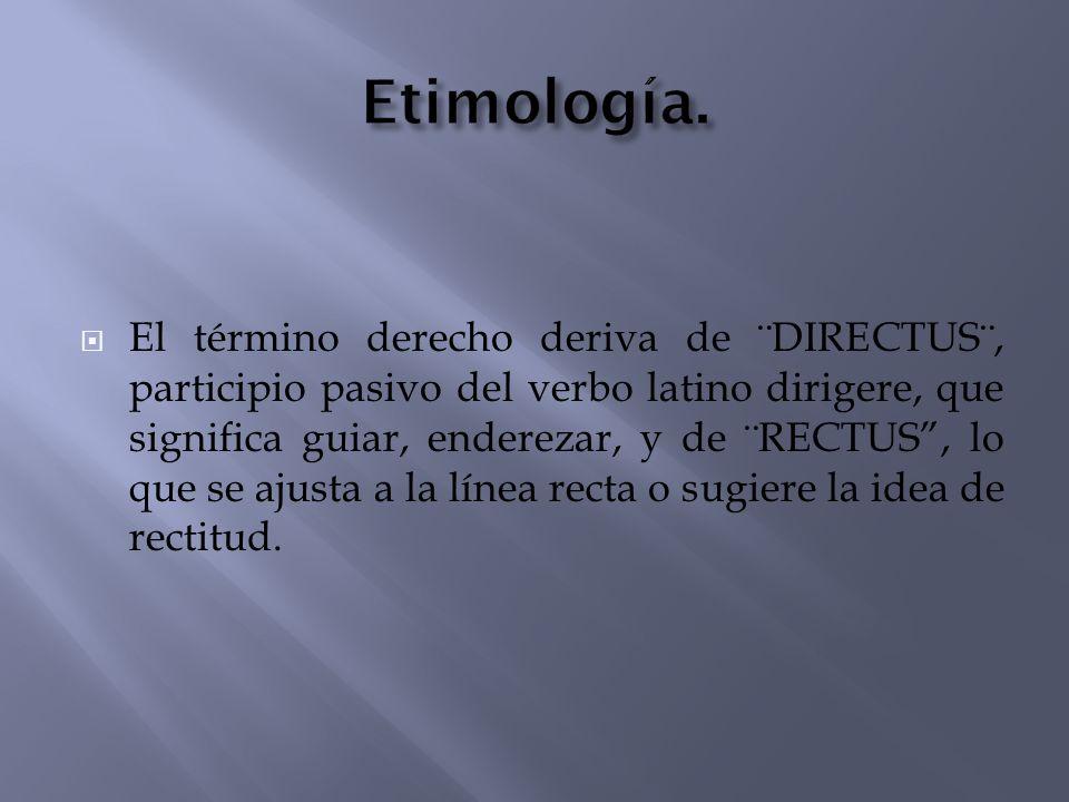 Etimología.