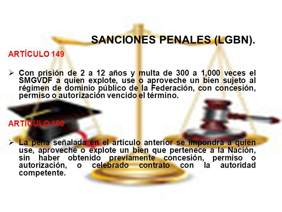 SANCIONES PENALES (LGBN).