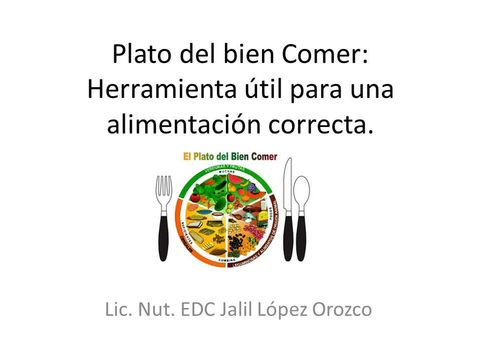 Plato del bien Comer: Herramienta útil para una alimentación correcta.