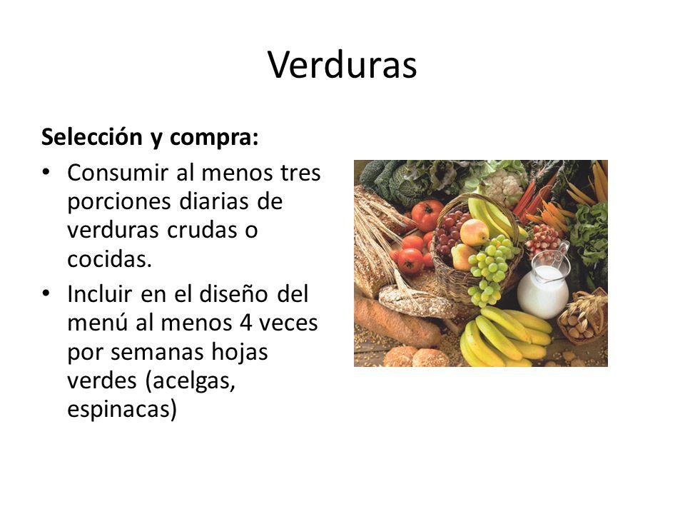 Verduras Selección y compra: