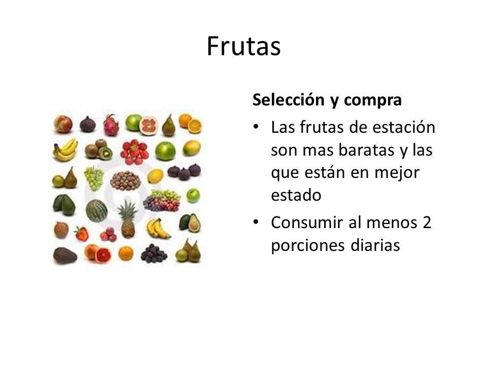 Frutas Selección y compra