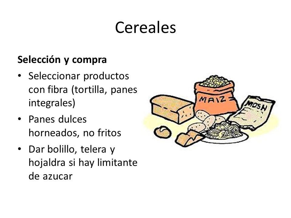 Cereales Selección y compra