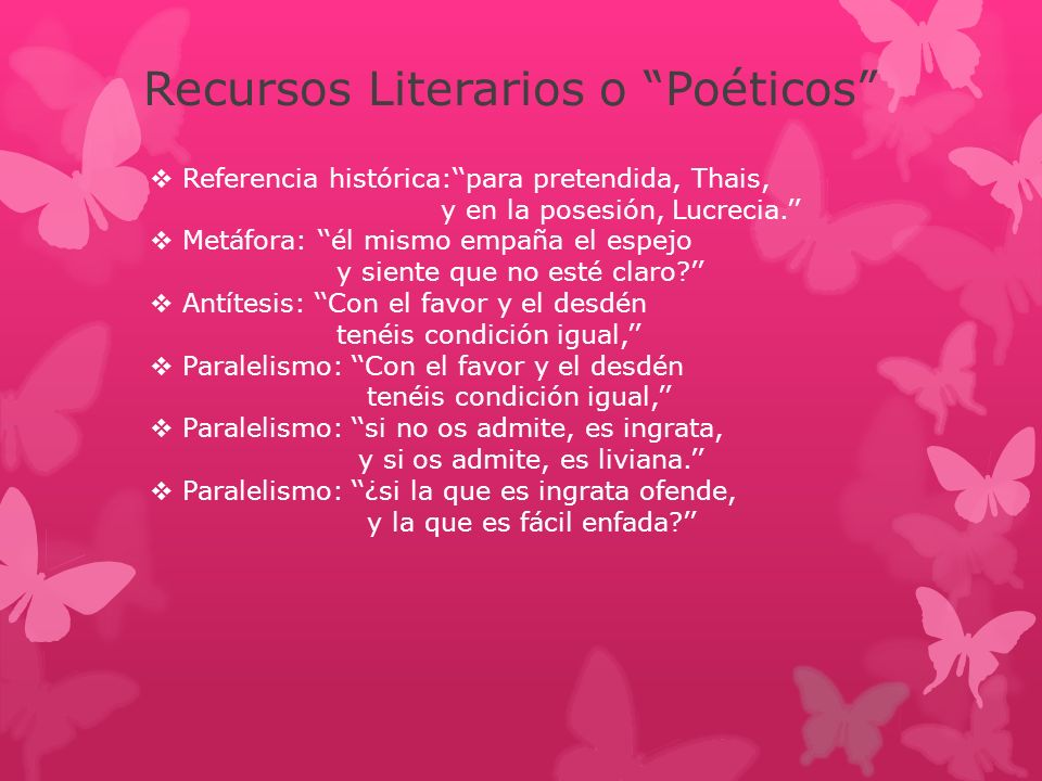 Recursos Literarios o Poéticos