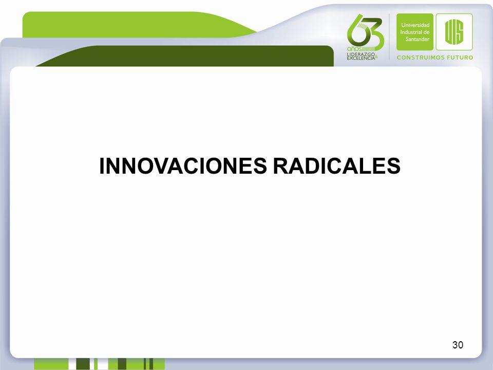 INNOVACIONES RADICALES