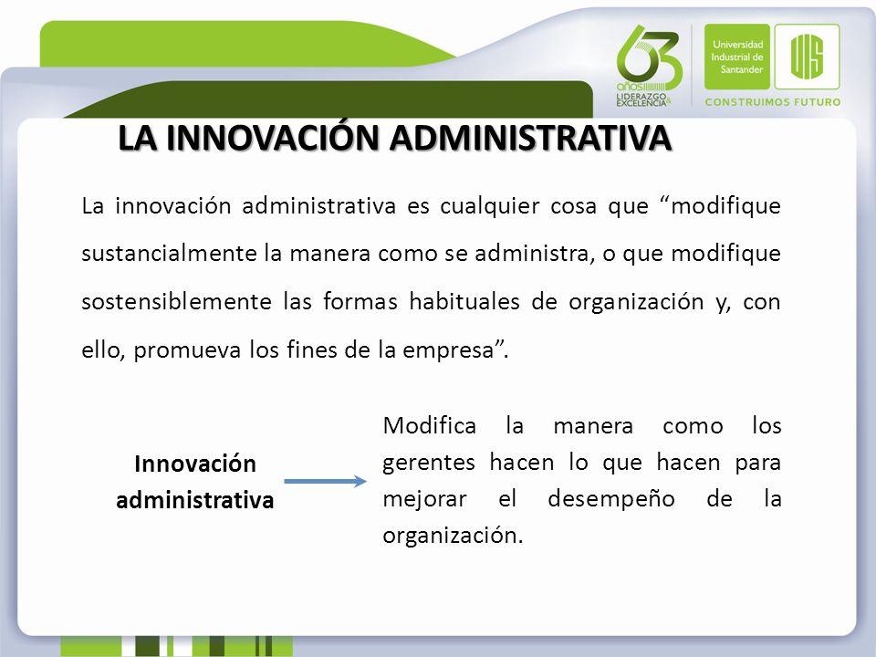 Innovación administrativa