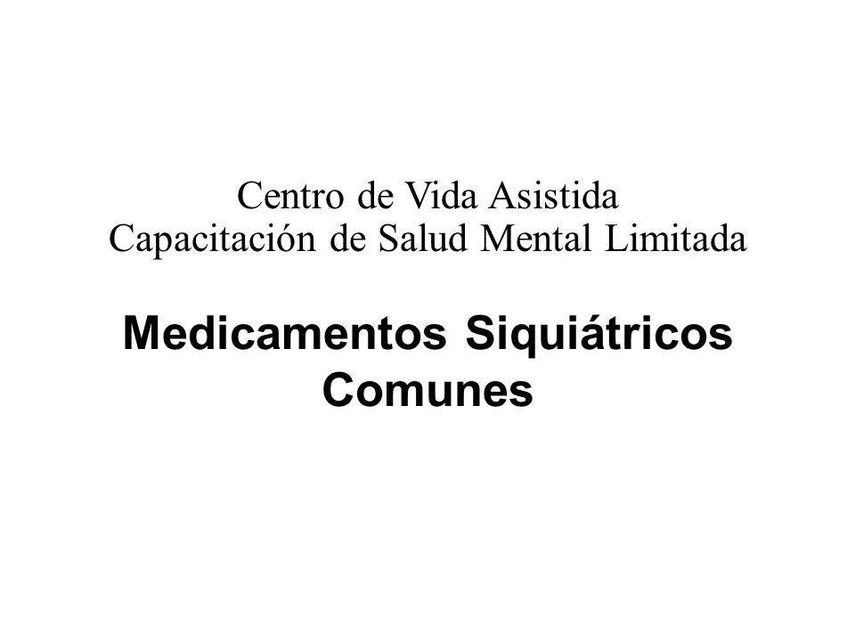 Medicamentos Siquiátricos Comunes