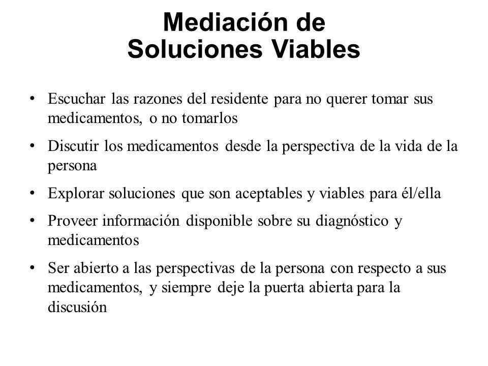 Mediación de Soluciones Viables