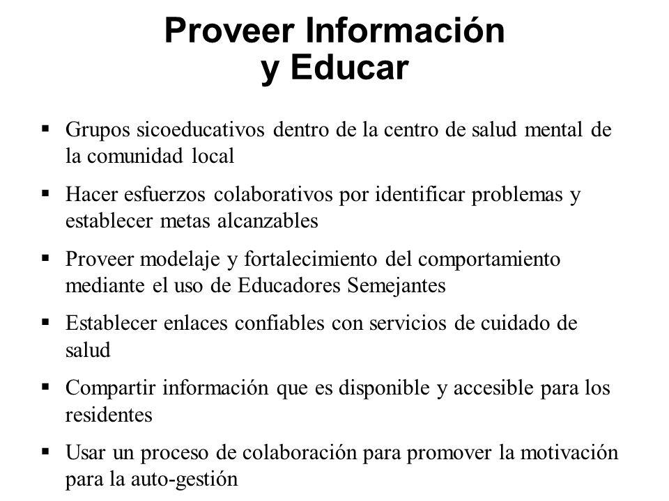 Proveer Información y Educar