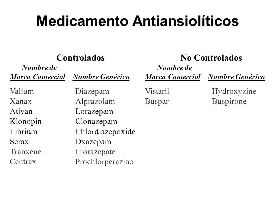Medicamento Antiansiolíticos