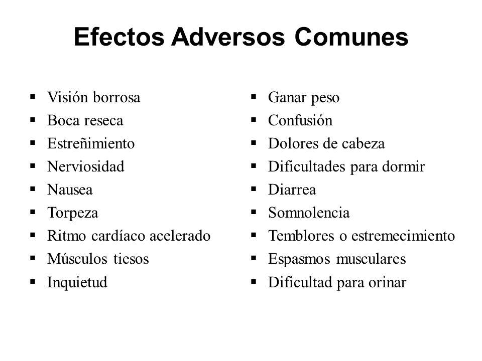 Efectos Adversos Comunes