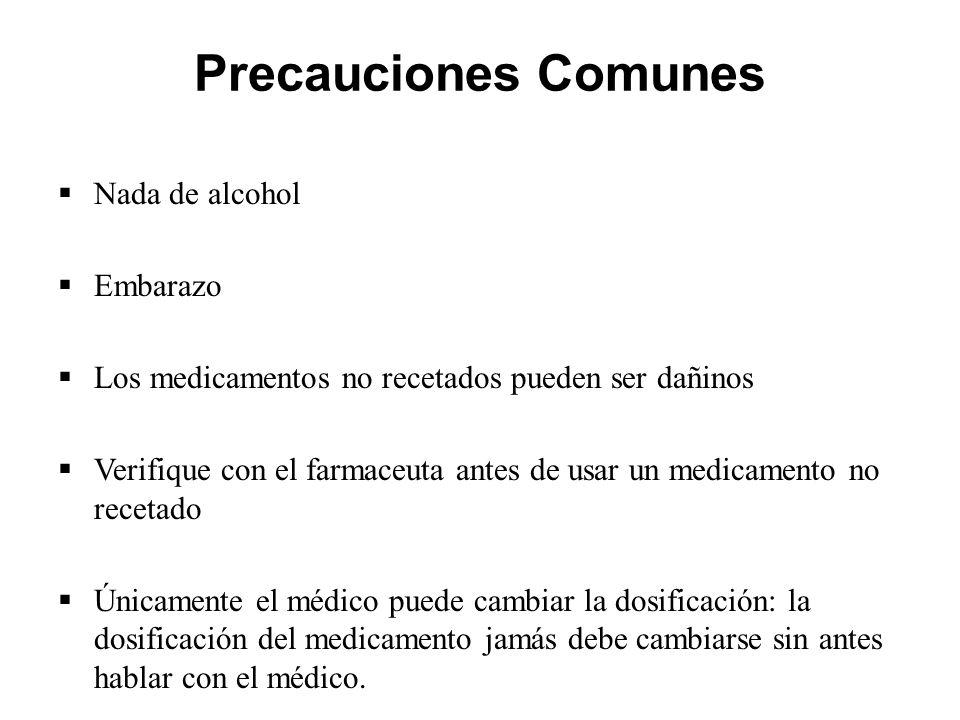 Precauciones Comunes Nada de alcohol Embarazo
