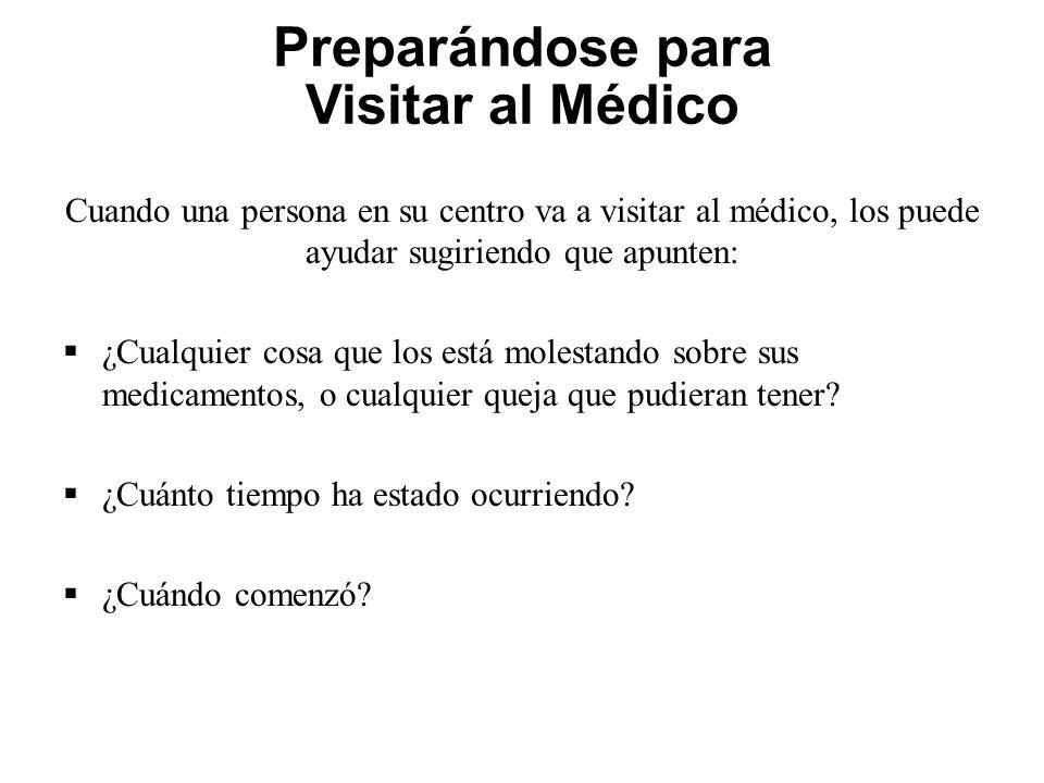 Preparándose para Visitar al Médico