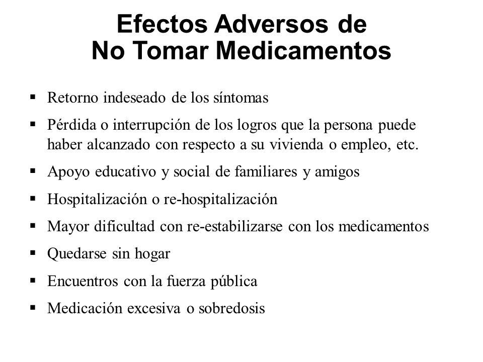 Efectos Adversos de No Tomar Medicamentos