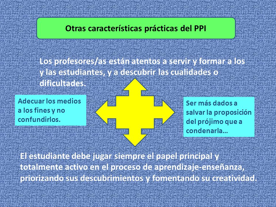 Otras características prácticas del PPI