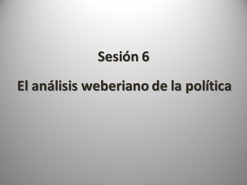 El análisis weberiano de la política