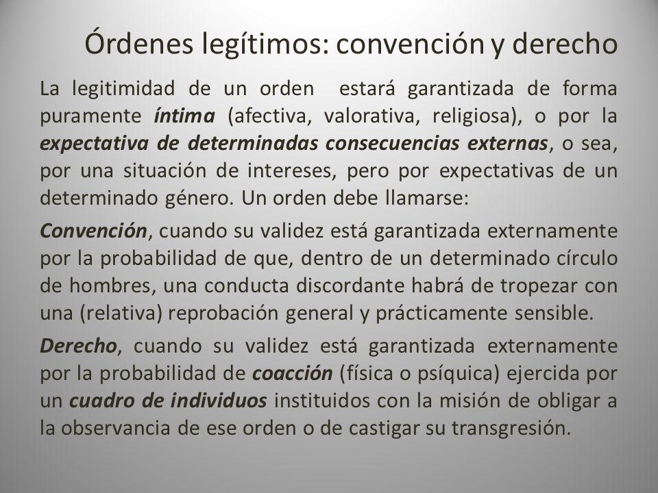 Órdenes legítimos: convención y derecho