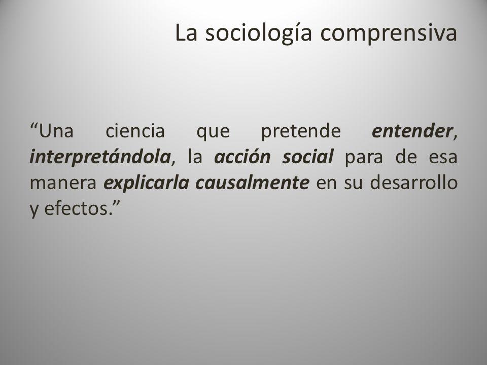 La sociología comprensiva