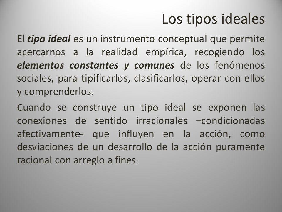 Los tipos ideales