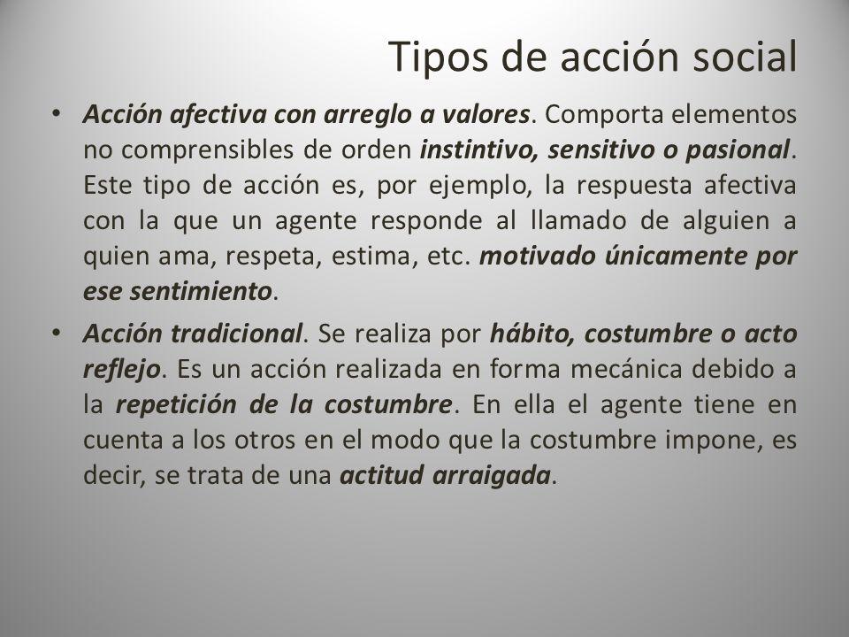 Tipos de acción social
