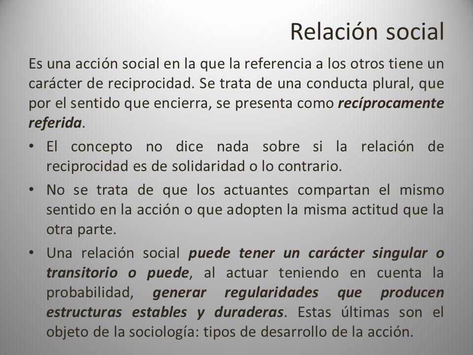 Relación social