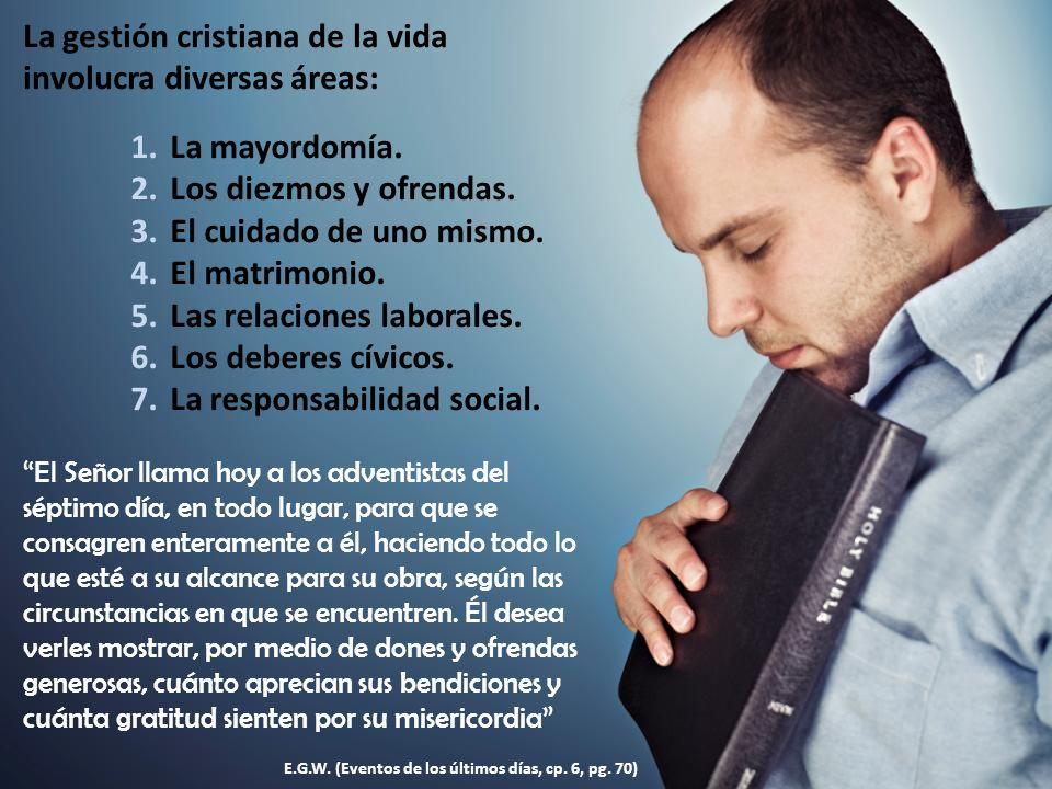 La gestión cristiana de la vida involucra diversas áreas: